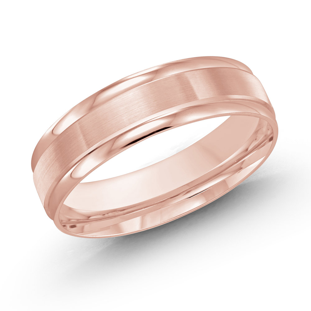 Pink Gold Men's Ring Size 6mm (LUX-031-6P)