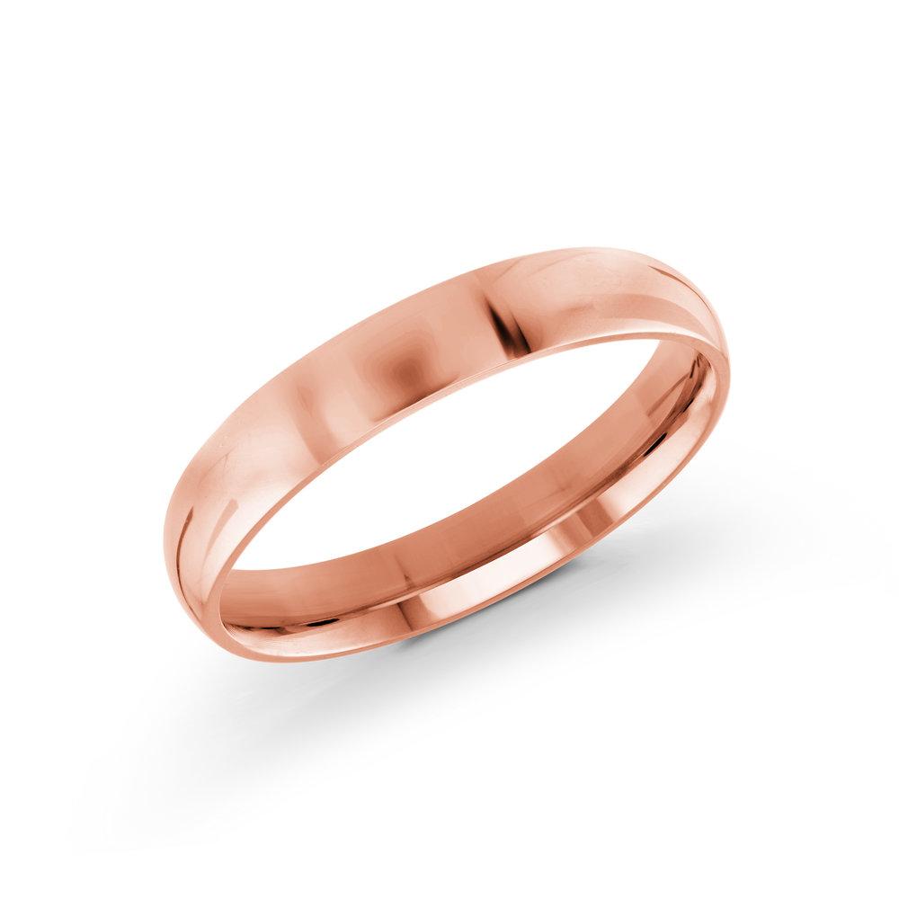 Pink Gold Men's Ring Size 4mm (J-100-04PG)