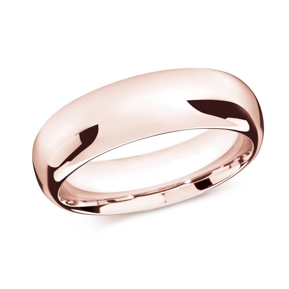 Pink Gold Men's Ring Size 8mm (J-207-08PG)