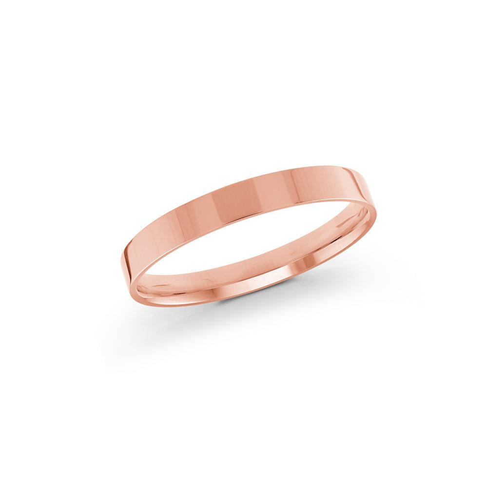 Pink Gold Men's Ring Size 2mm (J-213-02PG)